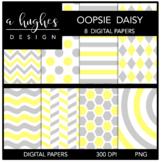 12x12 Digital Paper Set: Oopsie Daisy {A Hughes Design}