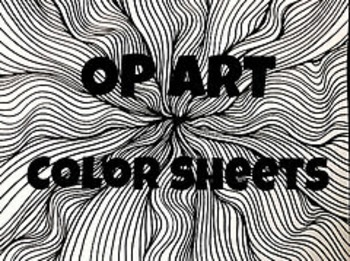 Op Art Color Sheets