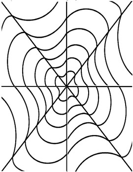 Optical Illusions (Op Art) - Coloring Pages for Adults | 350x270
