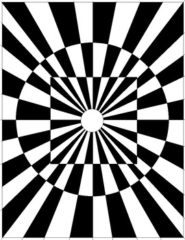 Optical Illusions Coloring Page Worksheets Teaching Resources Tpt