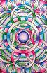 Op-Art Coloring Sheets - 100 unique designs, 2 sizes