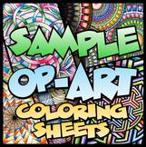 Op-Art Coloring Sheets Sample Pack