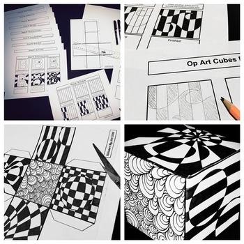 """""""Op Art Cubes"""" - Complete Lesson"""