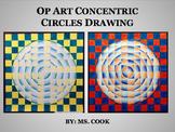 Op Art Concentric Circles Drawing