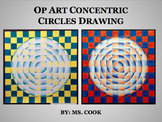 Op Art Concentric Circles Drawing