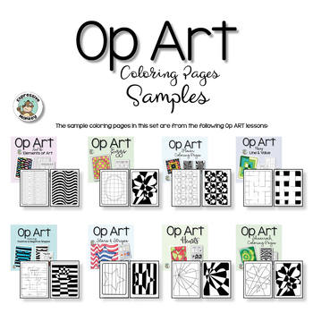 Op Art Graphics and Coloring Pages