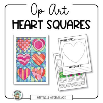 Op Art Heart Assemblage: Class Project and Writing Pages