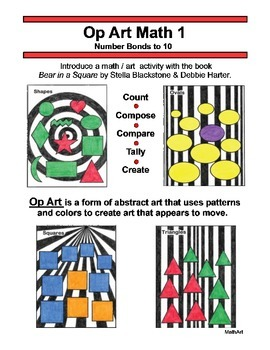 Op Art Math 1, Number Bonds to 10, Compose, Compare, Part-Part-Whole, Tally