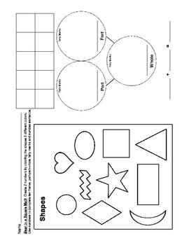Op Art Math K, Number Bonds to 10, Compose, Ten Frame, Part-Part-Whole, Tally