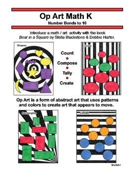 Op Art Math K, Number Bonds to 10, Compose, Ten Frame, Par