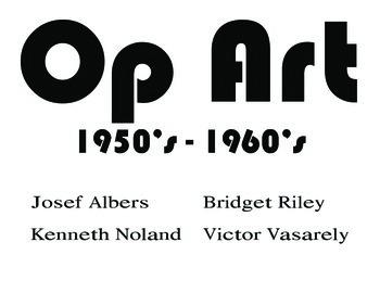 Op Art Color Marker Names