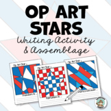 Patriotic Activity: Op Art Stars Writing & Class Project
