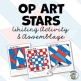 Patriotic Activity: Op Art Stars Writing & Class Project