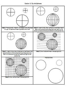 Op Art Unit Handouts - Fully Editable Word Document
