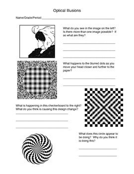 Op Art Worksheet