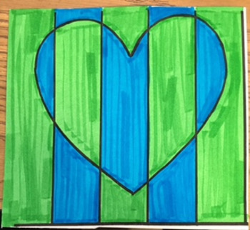 Op Art in Complementary Colors - Valentine's Day