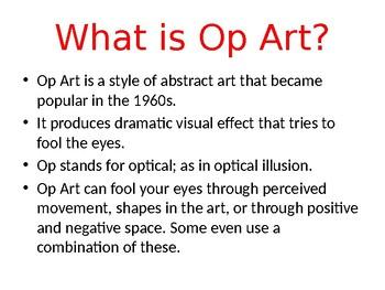 Op Art lesson plan