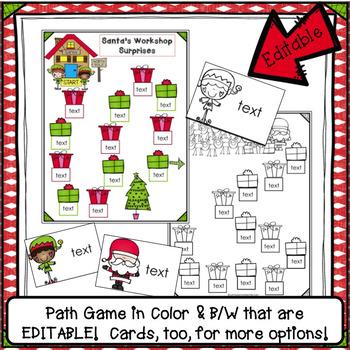 Op Word Family Path Game FREEBIE - Santa's Workshop Surprises