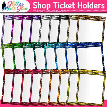 Opaque Shop Ticket Holder Clip Art: School Graphics {Glitter Meets Glue}