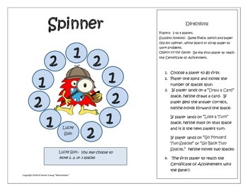 Opeations and Algebraic Thinking - Monstrous Math Game for Third Grade