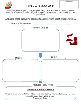 Open A Restaurant Project for Prostart