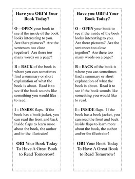 Open, Back, Inside Flap!  An Easy Method for Choosing Great Library Books