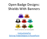 Open Badges Designs: Shields With Banners