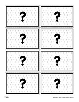 Open (Blank) Game Cards in Full Color and B&W - FREEBIE!