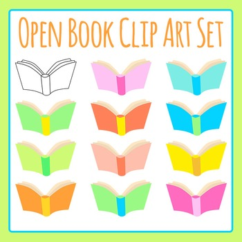 Open Book Clip Art Set for Commercial Use