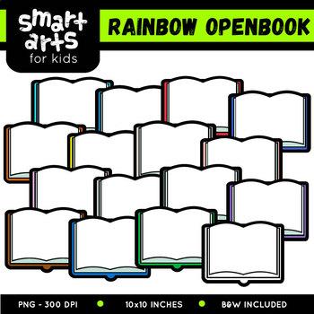 Open Book Clipart - Multicolored