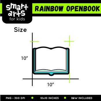 Rainbow Open Book Clip Art