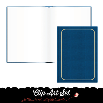 Open Book - Closed Book - Clip Art Set - PNG Files