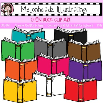 Books colorful. Open book clip art