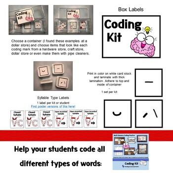 Open/Closed Syllable Coding Kit