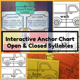 Phonics Rules Interactive Anchor Chart~Open & Closed Syllables