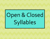 Open/Closed Syllable Practice Power Point for Intermediate