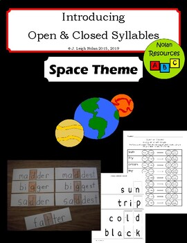 Open & Closed Syllables - Flashcards - Bingo Dauber Worksheets