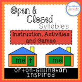Open & Closed Syllables - Orton-Gillingham Inspired - Distance Learning