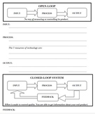 Open & Closed System worksheet