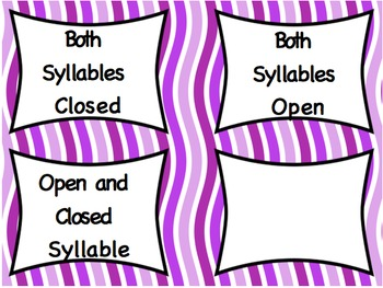 Open, Closed, and Both  Syllable Sort