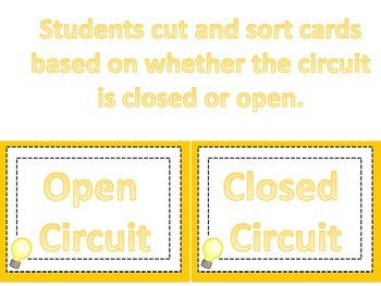 Electrical circuit card sort (open or closed)