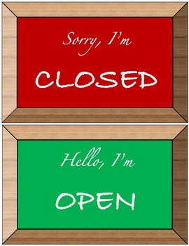 Open/Closed for Business