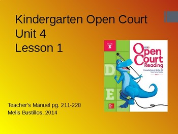 Open Court 2015 Unit 4 Lesson 1
