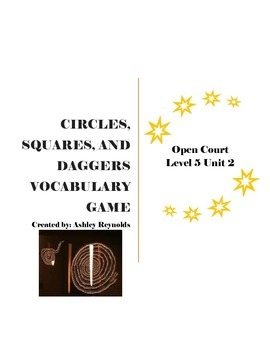 Open Court (5th Grade) - Circles, Squares, and Daggers Spelling Game