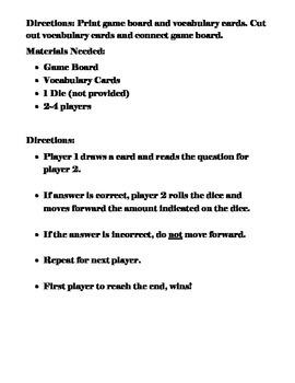 Open Court (5th Grade) - Telescopes Vocabulary Game