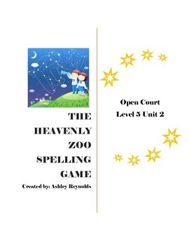 Open Court (5th Grade) - The Heavenly Zoo Spelling Game