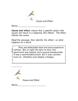 Open Court, Dedalus and Icarus Cause and Effect 2
