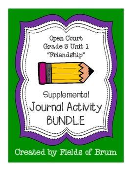 Open Court Grade 3 Unit 1 Supplemental Journal Activity Bundle