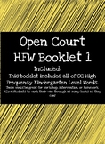 Open Court High Frequency Word Booklet