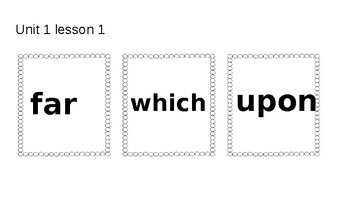 Open Court High Frequency Words- Unit 1